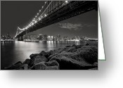 Manhattan Photo Greeting Cards - Sleepless Nights And City Lights Greeting Card by Evelina Kremsdorf