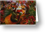 Cranberries Greeting Cards - Sleigh Ride Greeting Card by Toni Hopper