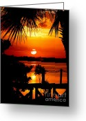 Surf Silhouette Greeting Cards - Slice of Life Greeting Card by Karen Wiles