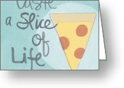 Dining Greeting Cards - Slice of Life Greeting Card by Linda Woods