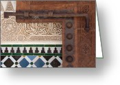 Andalucia Greeting Cards - Slide Bolt Alhambra Greeting Card by David Kleinsasser