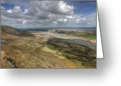 Kinvarra Greeting Cards - Slieve Carran View Greeting Card by John Quinn