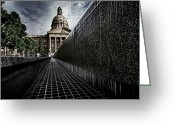 Legislature Greeting Cards - Slippery when wet Greeting Card by Russell Styles