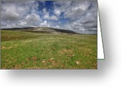 Kinvarra Greeting Cards - Slive Carran mountain Greeting Card by John Quinn