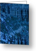 Ponderosa Greeting Cards - Slop in Blue Greeting Card by Viktor Savchenko