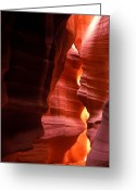 Canyon Walls Greeting Cards - Slot canyon entrance Greeting Card by Garry Gay