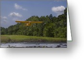 Plane Greeting Cards - Slow And Low Greeting Card by Steven Richardson