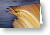 Pouring Greeting Cards - Slow motion waterfall Greeting Card by Romeo Koitmae