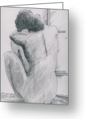 Nude Greeting Cards - Slowly Awaking Greeting Card by David Bishop