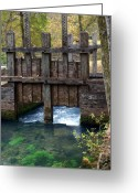 Ozarks Greeting Cards - Sluce Gate Greeting Card by Marty Koch