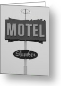 Merced County Greeting Cards - Slumber Motel Merced CA Greeting Card by Troy Montemayor