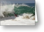 Boogie Board Greeting Cards - Small Day at the Wedge Greeting Card by Joe Schofield