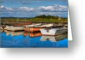Denmark Greeting Cards - Small harbor Greeting Card by Gert Lavsen