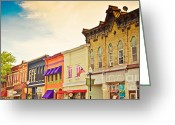 Store Fronts Greeting Cards - Small Town Colors Greeting Card by Christina Klausen