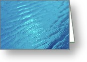 Water Swimming Pool Greeting Cards - Small Waves In Blue Water Of Swimming Pool Greeting Card by Werner Schnell