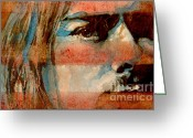 Portrait Poster Greeting Cards - Smells Like Teen Spirit Greeting Card by Paul Lovering