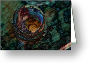 Soundscape Greeting Cards - Smelting Emeralds Greeting Card by Robert Glover