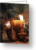 Valuable Greeting Cards - Smelting Precious Metal Ores Greeting Card by Ria Novosti