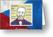 Flag Drawings Greeting Cards - Smetana Greeting Card by Paul Helm