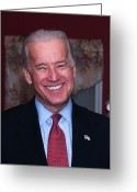 Vice President Joe Biden Greeting Cards - Smiling Joe Greeting Card by John Poltrack
