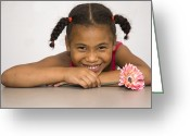 Kid Photo Greeting Cards - Smiling Pretty Greeting Card by Carolyn Marshall