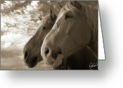 Caballo Greeting Cards - Smith and Wesson Greeting Card by Christine Hauber