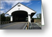 Bridge Greeting Cards - Smith Covered Bridge - Plymouth New Hampshire USA Greeting Card by Erin Paul Donovan