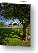 Tree-covered Greeting Cards - Smith Millenium Covered Bridge Greeting Card by Robert Clifford