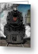 Steam Greeting Cards - Smoke and Steam Greeting Card by David Mittner