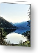 Janie Greeting Cards - Smoke Behind Marshal Lake Greeting Card by Janie Johnson