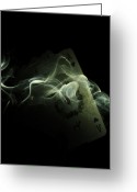 Stake Greeting Cards - Smoke Greeting Card by Ivan Vukelic
