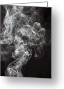 Vapor Greeting Cards - Smoke Swirls  Greeting Card by Garry Gay