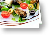 Lettuce Green Greeting Cards - Smoked Oysters Greeting Card by Dean Harte
