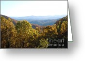 Turning Leaves Greeting Cards - Smokey Mountains  Greeting Card by Pauline Ross