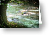 Storm Prints Greeting Cards - Smoky Mountain Rain Greeting Card by Barry Jones