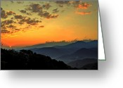 Ohio Country Greeting Cards - Smoky Mountain Sunrise Greeting Card by Robert Harmon