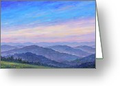 National Painting Greeting Cards - Smoky Mountain Wildflowers - Panorama Greeting Card by Jeff Pittman