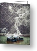 Warm Greeting Cards - Smoky Shoes Greeting Card by Joana Kruse