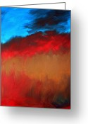 Rage Greeting Cards - Smoldering Passion Greeting Card by Julie Lueders 