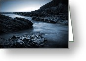 Matthew Trimble Greeting Cards - Smooth and Jagged Greeting Card by Matt  Trimble