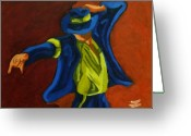Mj Greeting Cards - Smooth Criminal Greeting Card by Jason JaFleu Fleurant