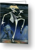 King Of Pop Greeting Cards - Smooth Criminal Greeting Card by Tu-Kwon Thomas
