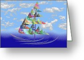 Awe Inspiring Greeting Cards - Smooth Sailing Greeting Card by Andee Photography