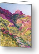 Landscapes Pastels Greeting Cards - Smugglers Gap Canyon Greeting Card by Candy Mayer