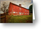 Old Farms Greeting Cards - Smyrski Farm  Greeting Card by Bill  Wakeley
