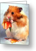 Eating Painting Greeting Cards - Snack from the Garden Greeting Card by Jai Johnson