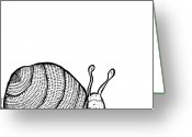 Slime Greeting Cards - Snail Greeting Card by Karl Addison