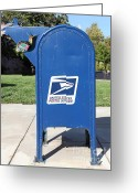 Mail Box Photo Greeting Cards - Snail Mail - 5D18813 Greeting Card by Wingsdomain Art and Photography