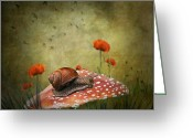 Surreal Photo Greeting Cards - Snail Pace Greeting Card by Ian Barber