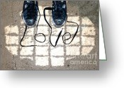 Sneakers Greeting Cards - Sneaker Love 1 Greeting Card by Paul Ward